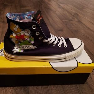 Unisex Bart Simpson Converse High Top Sneakers